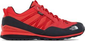 ae3842a8 Czerwone buty trekkingowe The North Face z goretexu sznurowane