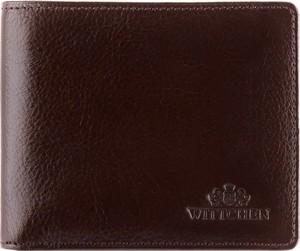 Brązowy portfel męski Wittchen na bilon ze skóry