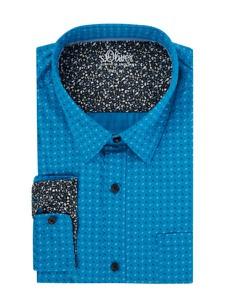 Turkusowa koszula S.oliver Plus z długim rękawem
