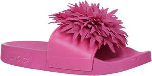 Różowe buty dziecięce letnie Casu w kwiatki