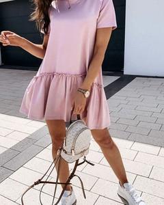 Różowa sukienka Kendallme mini w stylu casual oversize