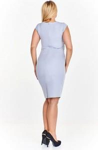 Sukienka Nubile z okrągłym dekoltem ołówkowa midi