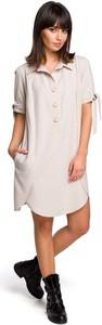 Sukienka MOE w stylu casual midi koszulowa