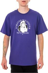 Niebieski t-shirt HUF w młodzieżowym stylu z bawełny