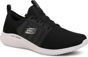 Czarne buty sportowe Skechers sznurowane w sportowym stylu