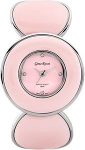 ZEGAREK DAMSKI GINO ROSSI - 8313B (zg514e) silver/pink + BOX - Srebrny    Różowy