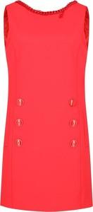Sukienka Elisabetta Franchi mini bez rękawów z okrągłym dekoltem