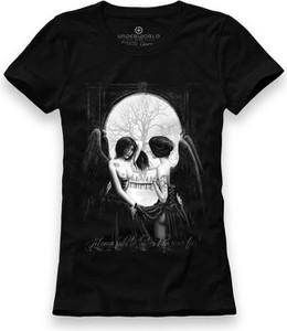 Czarny t-shirt Underworld z bawełny