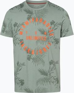 Zielony t-shirt Jack & Jones w młodzieżowym stylu