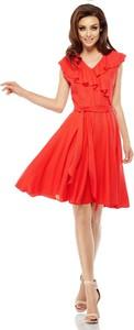 Pomarańczowa sukienka Lemoniade z dekoltem w kształcie litery v mini