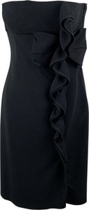 Czarna sukienka Valentino Vintage mini z dekoltem w kształcie litery v