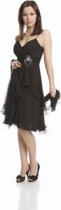 Sukienka Fokus midi rozkloszowana w stylu glamour