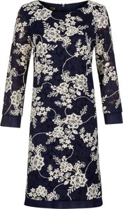 Sukienka Poza prosta z długim rękawem