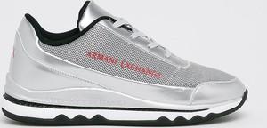 Buty sportowe Armani Jeans z płaską podeszwą sznurowane