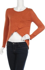 Pomarańczowa bluzka Better Be z długim rękawem
