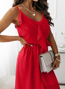 Sukienka Pakuten na ramiączkach mini asymetryczna