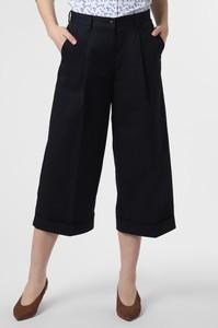 Granatowe spodnie Marie Lund w stylu retro