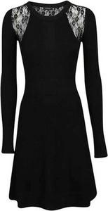Czarna sukienka Pinko mini z okrągłym dekoltem