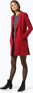 Czerwony płaszcz Esprit z dresówki w stylu casual