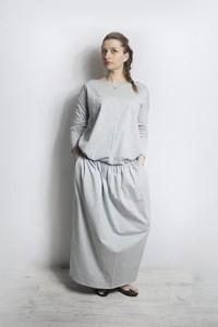 Sukienka Meleksima w stylu casual maxi z dzianiny