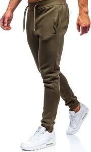 Zielone spodnie sportowe Denley z bawełny