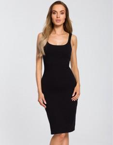 Czarna sukienka MOE na ramiączkach