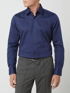 Niebieska koszula Joop! z długim rękawem z bawełny