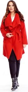 Czerwony płaszcz Ptak Moda