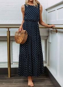 Czarna sukienka Cikelly z okrągłym dekoltem
