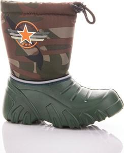 Zielone buty dziecięce zimowe Lemigo dla chłopców z wełny