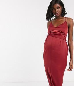 Czerwona sukienka Asos na ramiączkach