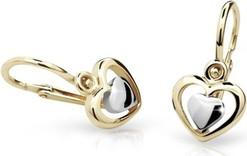 Cutie jewellery kolczyki dla dzieci cutie c1604 żółtego, brizura
