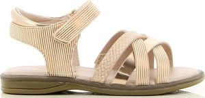 Złote buty dziecięce letnie V+j na rzepy dla dziewczynek
