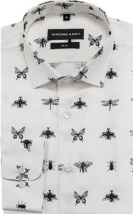 Koszula Giacomo Conti w młodzieżowym stylu z klasycznym kołnierzykiem