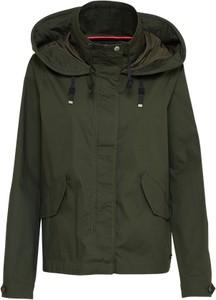 Zielona kurtka only w stylu casual z bawełny