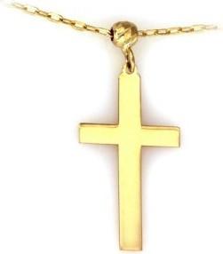 Lovrin Złoty naszyjnik 585 celebrytka krzyż z kuleczką