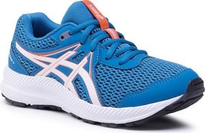 Niebieskie buty sportowe dziecięce ASICS sznurowane