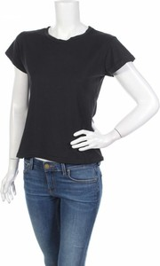 Czarna bluzka Ragdoll z okrągłym dekoltem