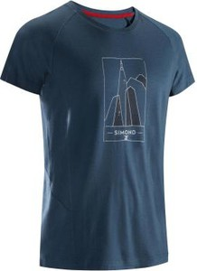 T-shirt Simond z wełny