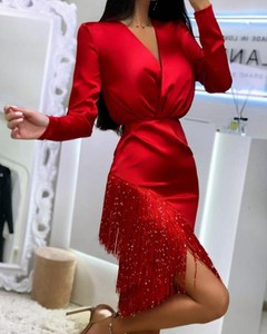 Sukienka Kendallme prosta z długim rękawem mini
