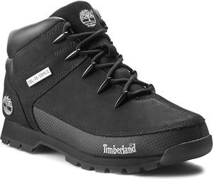 Buty zimowe Timberland ze skóry sznurowane w sportowym stylu