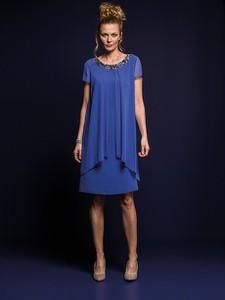 Niebieska sukienka Risca z tkaniny