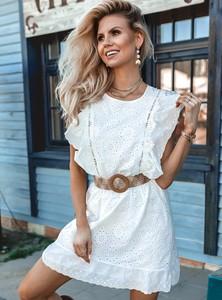 Sukienka SELFIEROOM z krótkim rękawem mini z okrągłym dekoltem