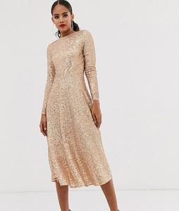 Złota sukienka Tfnc Tall midi