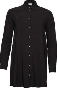 Czarna koszula bonprix BODYFLIRT z kołnierzykiem w stylu casual