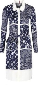 Sukienka Tommy Hilfiger w stylu casual koszulowa z długim rękawem