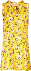 Żółta sukienka Multu mini bez rękawów