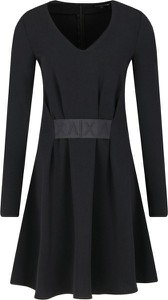 Czarna sukienka Armani Jeans w stylu casual mini rozkloszowana