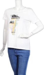 T-shirt DKNY z okrągłym dekoltem z bawełny