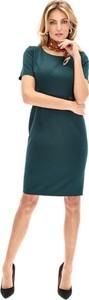 Zielona sukienka Lavard w stylu klasycznym ołówkowa mini